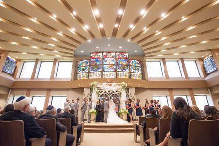 Jewish wedding ceremony with chuppah, Dayton, Ohio