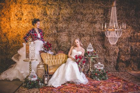 LGBT Barn Wedding with vintage decor