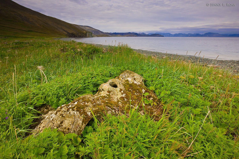 Whalebone Alley, Yttygran Island, Chukotka, Bering Sea, Russia