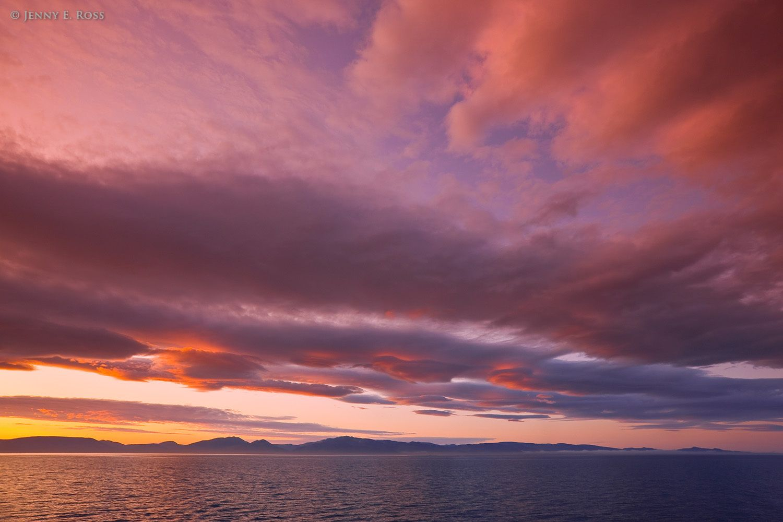 Wrangel Island at Sunset, Chukchi Sea, Russia