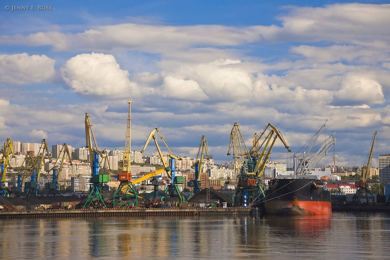 Port of Murmansk, Kolskiy Gulf, Kola Peninsula, Barents Sea, Russia