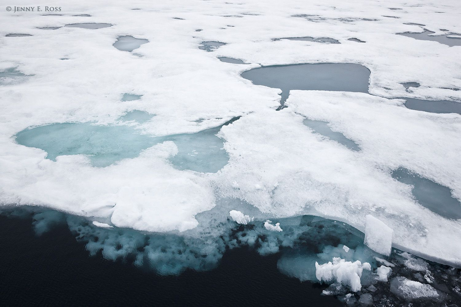 Melting Arctic Sea Ice Near 82.5 Degrees North in Late Summer 2012