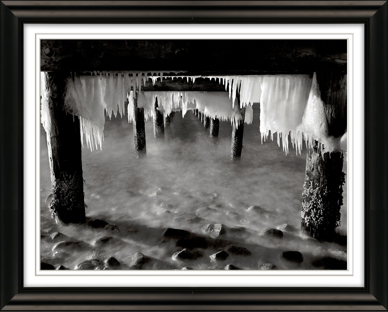 Ice Under Pier West Chop Oak Bluffs.jpg