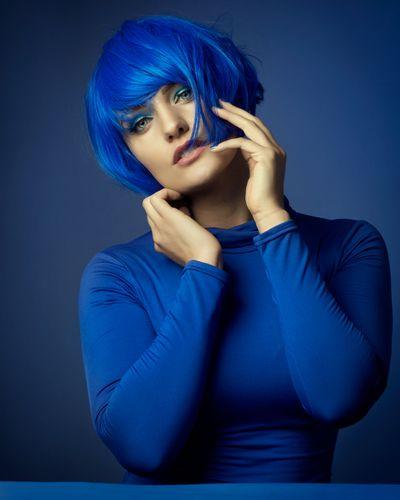 Blue - Color portrait using the color blue as the theme.