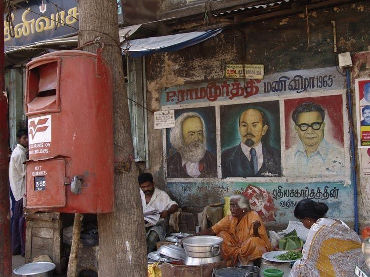 Political posters in Madurai, Tamil Nadu