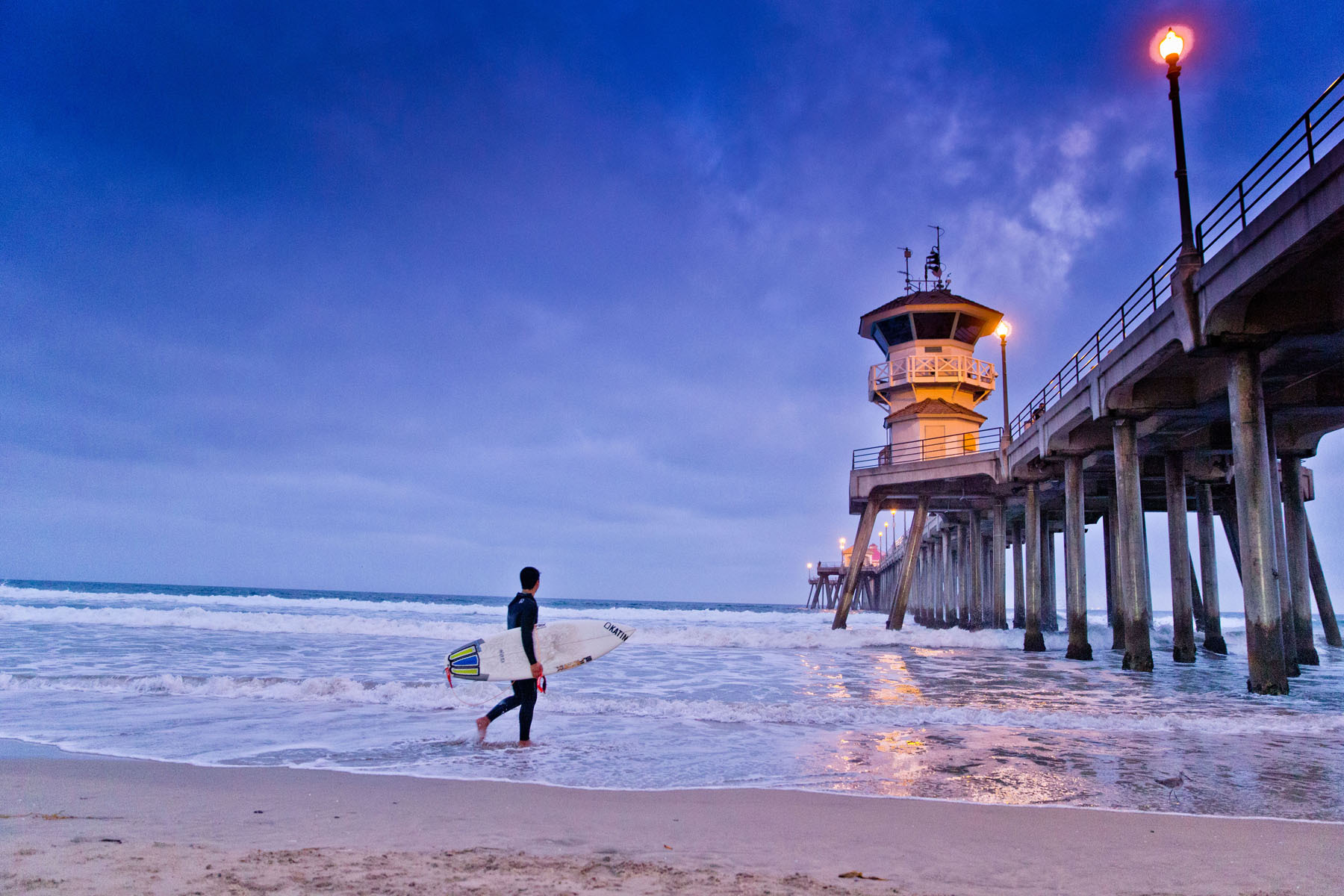 Surfing Huntington Beach Pier - Corporate Advertising Photography | Dallas TX - Robie Capps