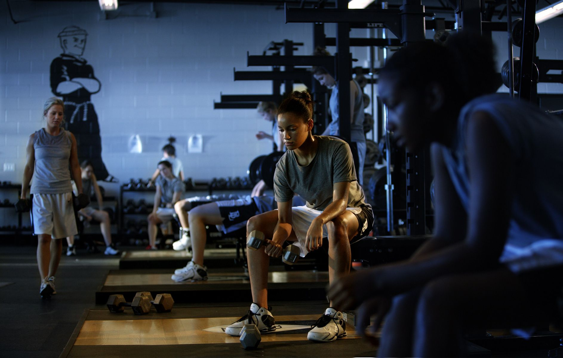 Women workout gym
