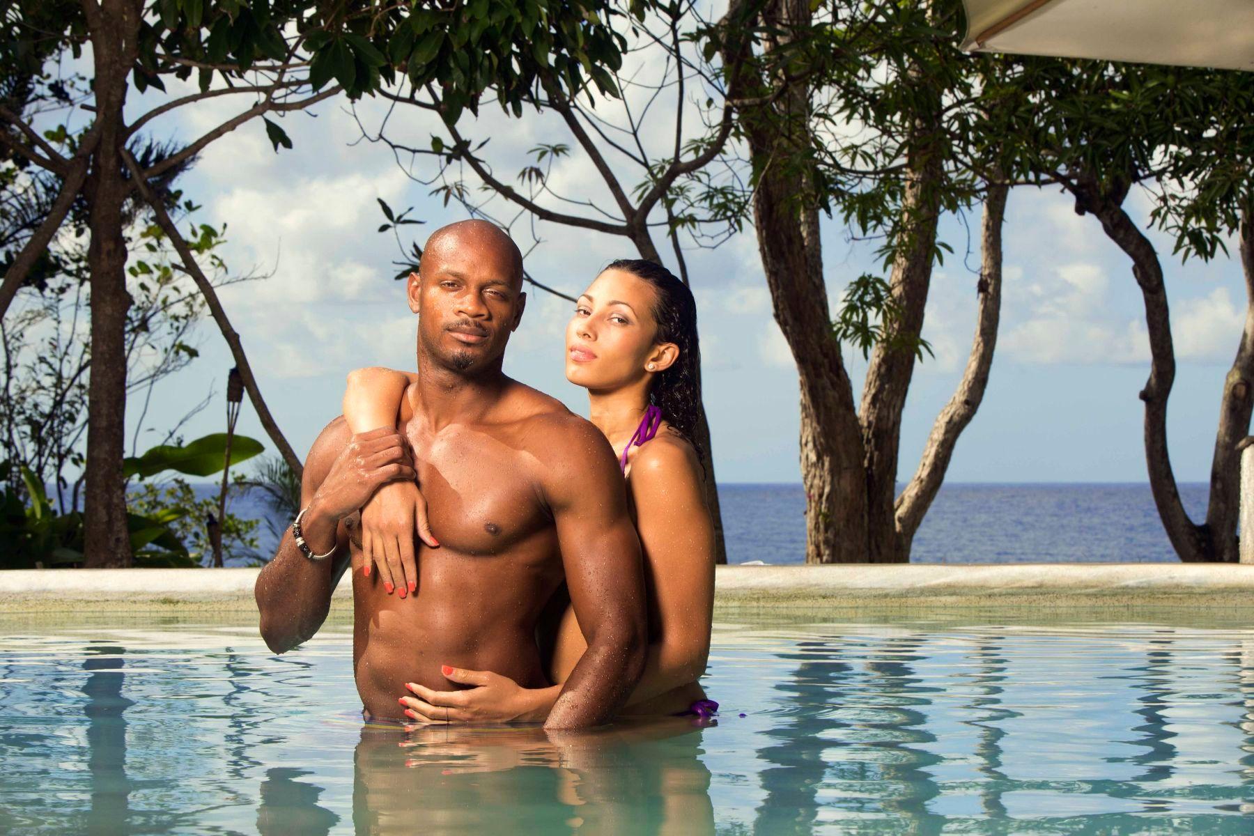 Asafa Powell , Sprinter and Chantal Zaky, MIss Jamaica Universe
