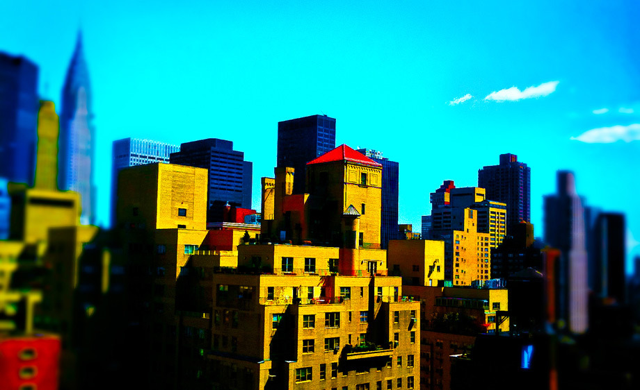 NYCCamera Phone: iPhone 3GsTilt-shifted and saturated with Photoshop Express mobile app.