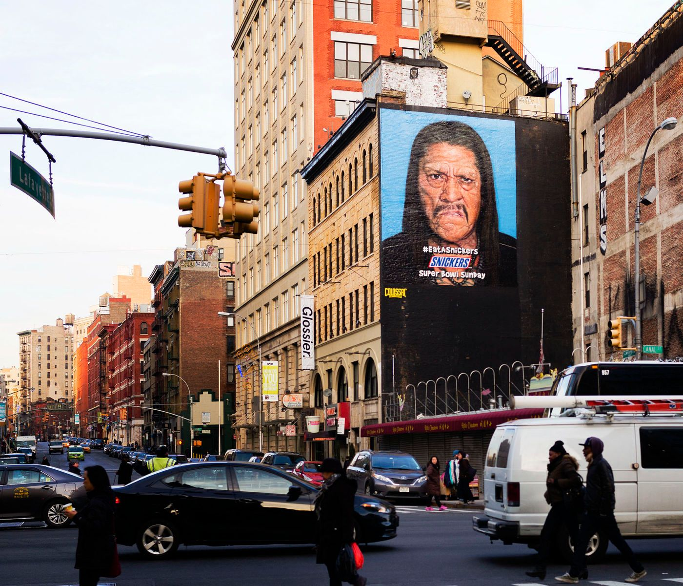 Danny Trejo Billboard, Shot for Snickers