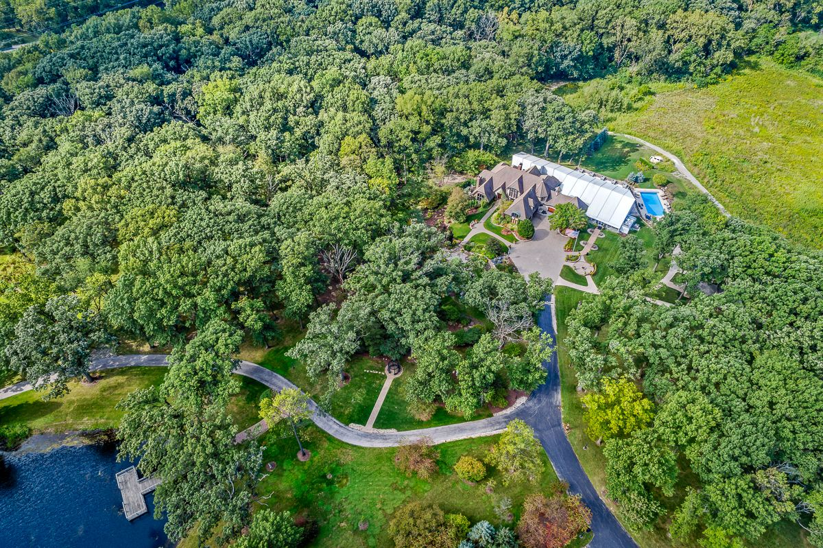 summer drone wedding venue