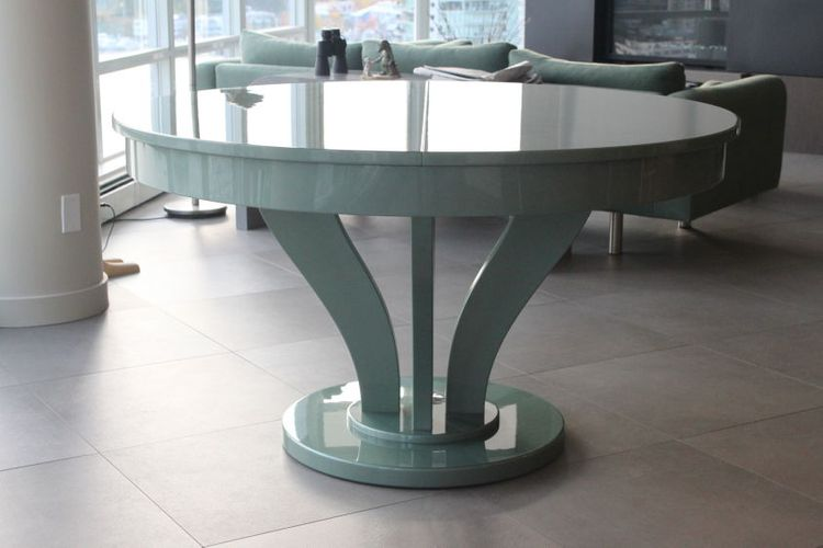 HIGH GLOSS METALLIC AUTOMOTIVE Project#1126, Dining Table