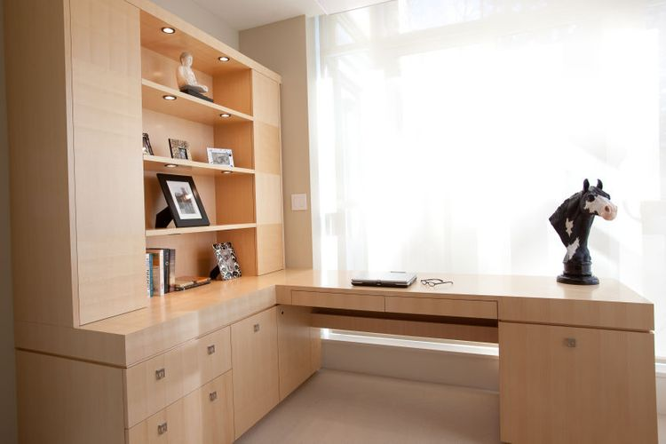 HOME OFFICE DESK Project# 722Quarter Cut MapleNatural Finish with Clear Satin LacquerHidden Office Necessities