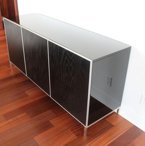 HIGH GLOSS BLACK POLYURETHANE and SATIN SHEEN BLACK CONVERSION VARNISH Project#941, Dining Room Buffet