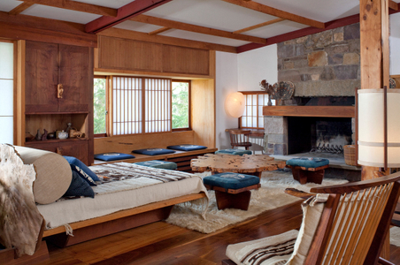 George Nakashima Woodworker - Reception House Interior photograph.jpg