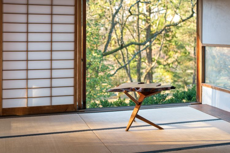 Nakashima - In Situ - Conoid Cross Leg End Table - November 2017.jpg
