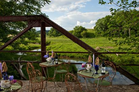 Dining on a bridge - Irish Hollow Inn.jpg