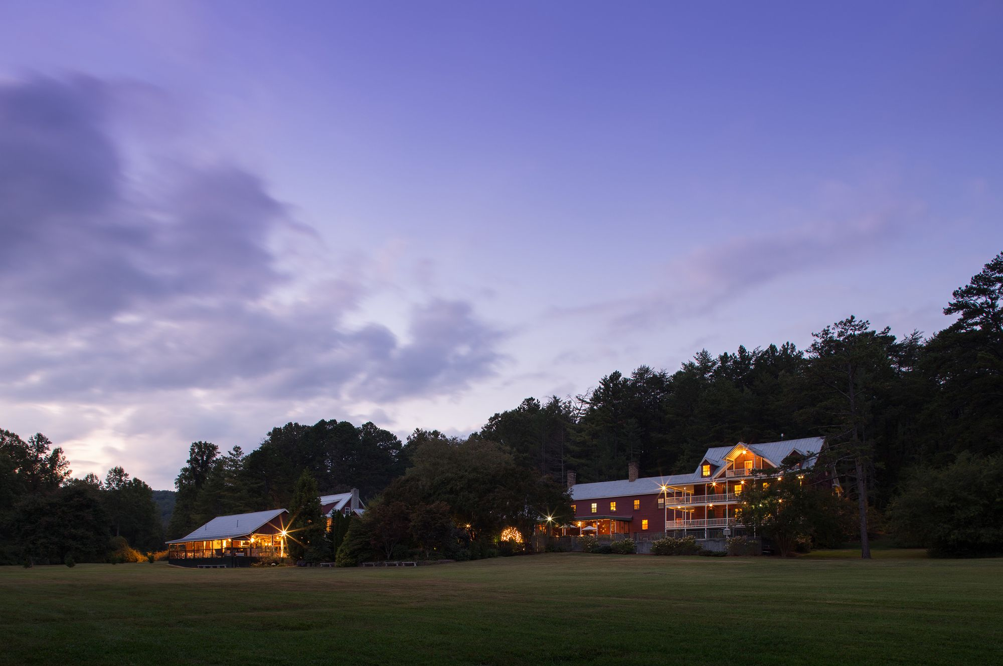 Exterior Architectural twilight photograph - Glen Ella Springs Inn.jpg