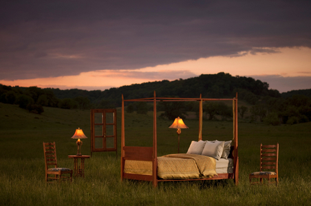 Exterior Architectural twilight photograph - Bed in field.jpg