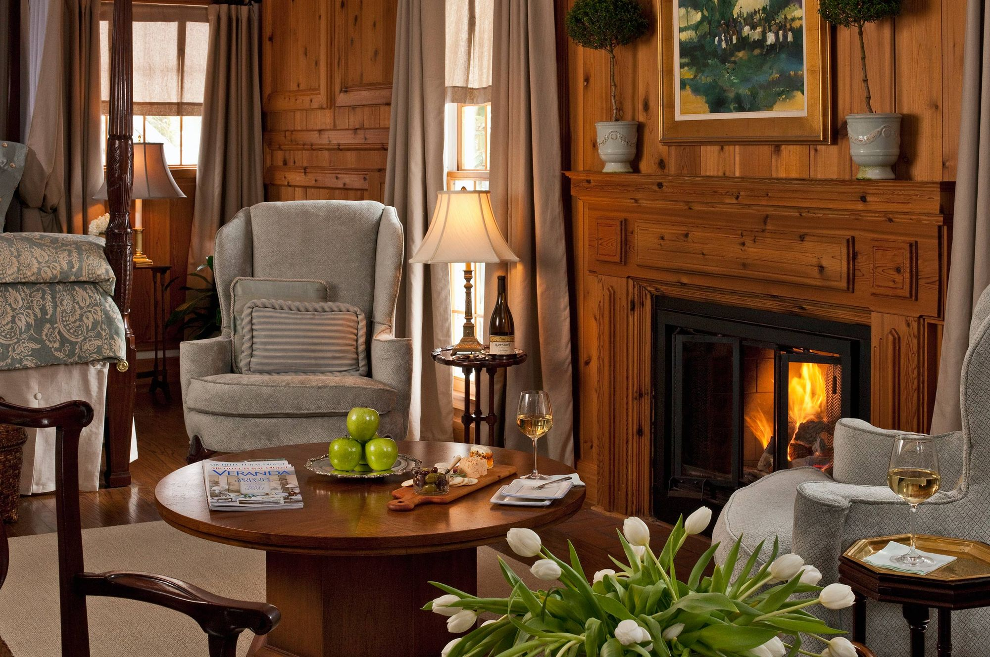 Sitting area with fireplace - Interior photograph.jpg