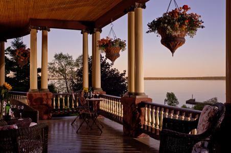 Twilight on a Wisconsin Inn porch.jpg