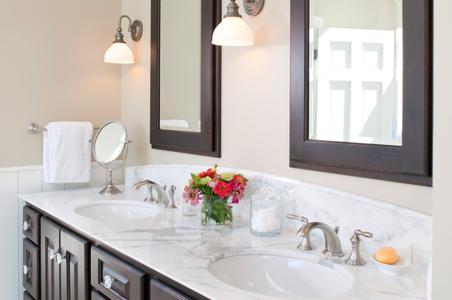 Maine Private Home Bathroom Sink Interior Photograph.jpg