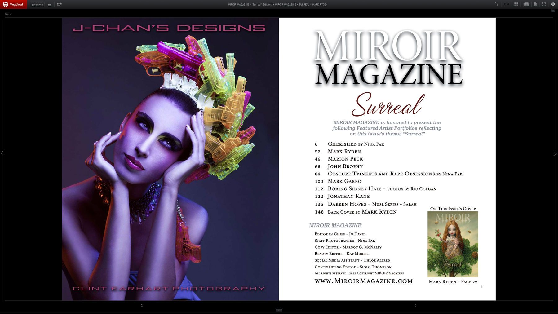 Miroir Magazine (Mag Cloud Version & Print Version) 1st Page