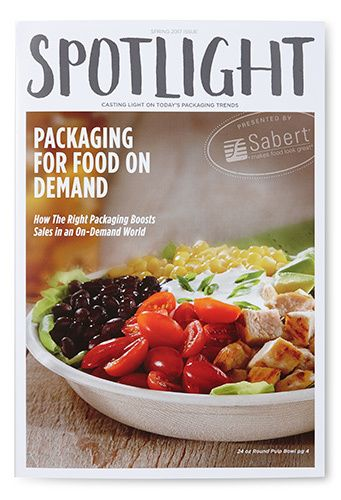 "Cover to ""Spotlight"" catering trends"