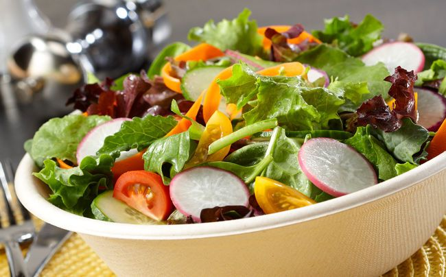 Salad in Compostible bowl