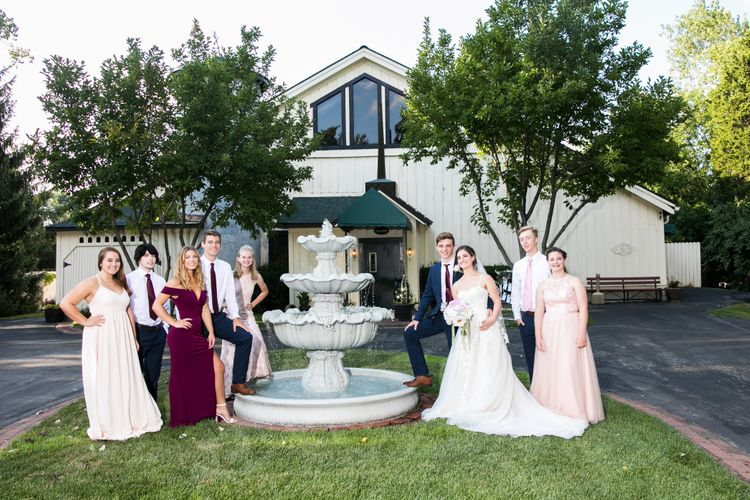 Wedding party at the Banquet Center