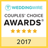 Wedding Wire Couples' Choice award for 2017
