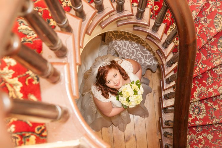 Beautiful bride with red hair.
