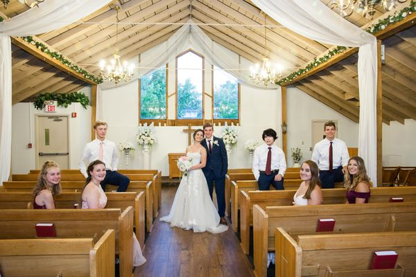 Rustic and Chic Indoor Wedding Chapel in St. Louis MO.