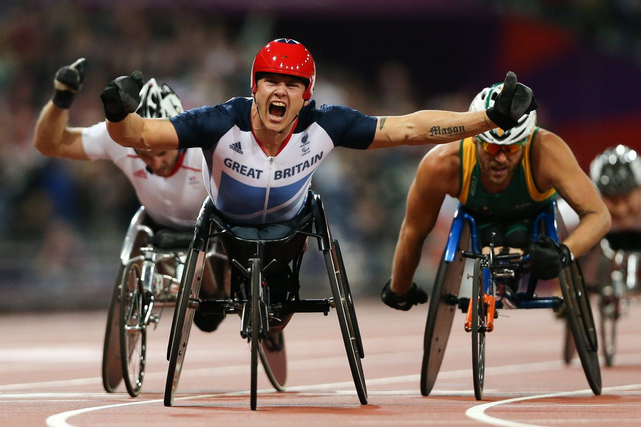 David Weir of GBR wins Gold