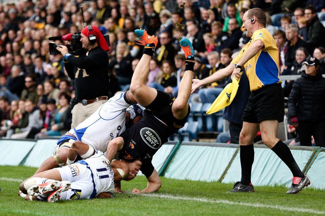 Rugby Union, 2014 / 2015 Aviva Premiership, Wasps vs. Bath - Adams Park Stadium, London