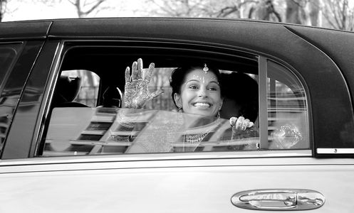 Hindi Bride waves hello