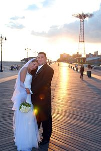 Coney Island Wedding Portraiture