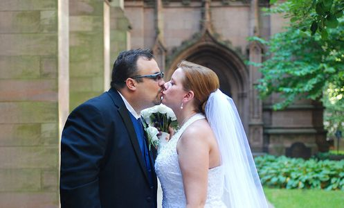 Stolen Kiss outside Trinity Church