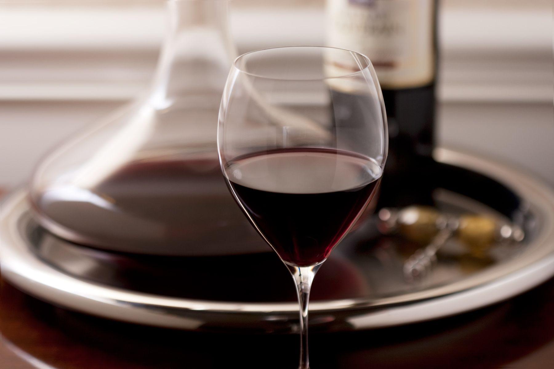 carafe of cabernet sauvignon