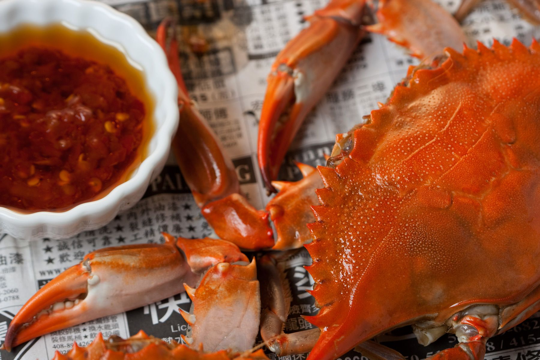 dungeness crab with spicy sauce