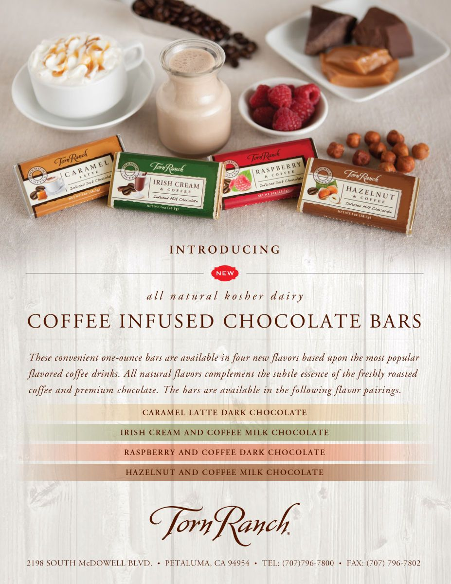 client: Torn Ranchassignment: conceputalize, food/prop styling and photography for launch of new product line an assortment of chocolate coffee bars