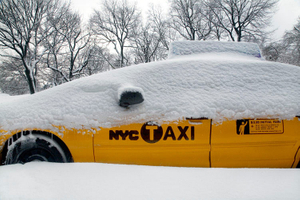 Snowbound Taxicab, NYC (2009)