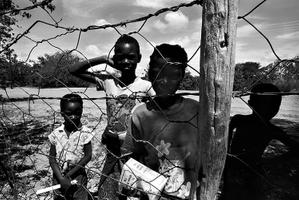 Local children from Maun