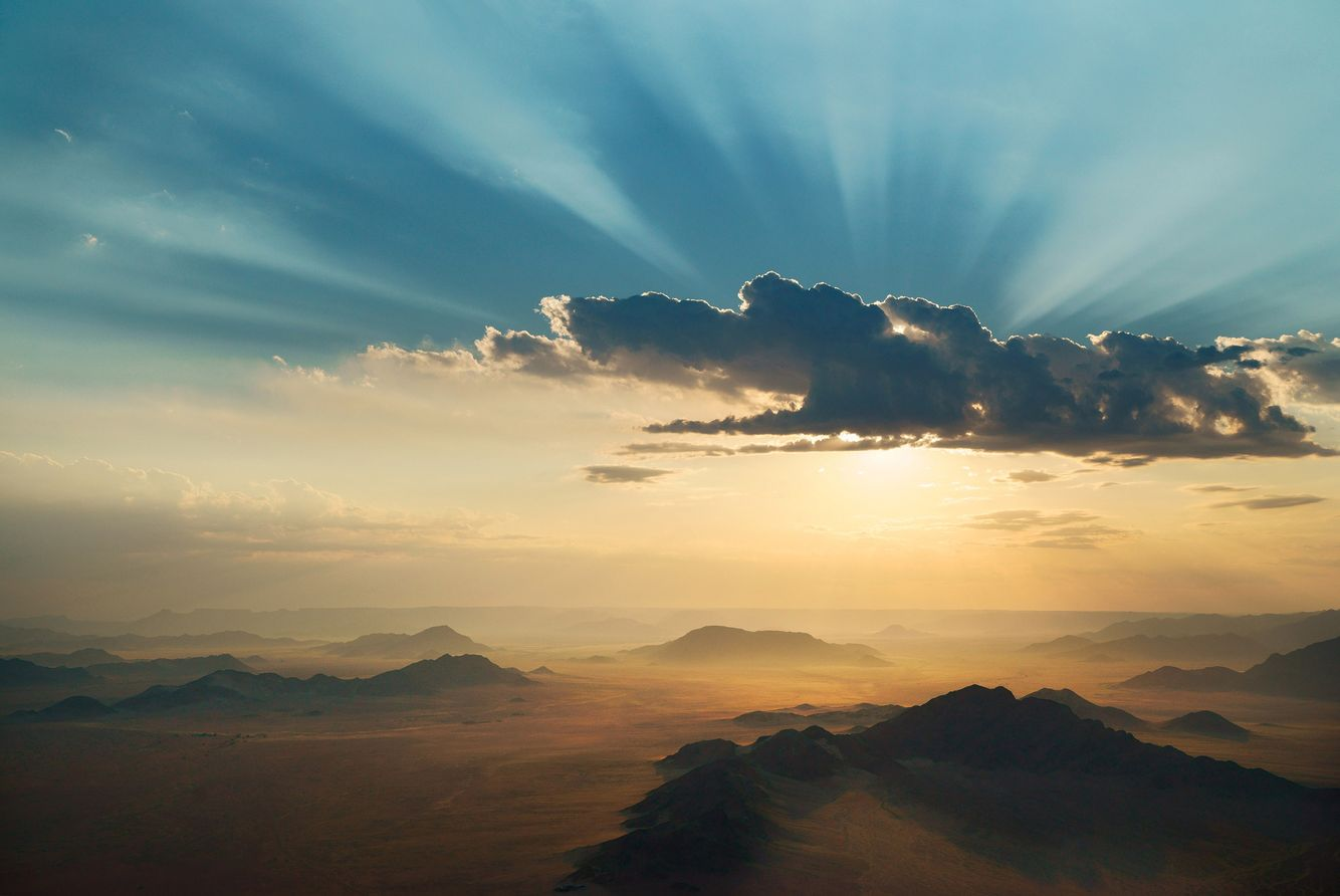 Sunrise from Hot Air Balloon