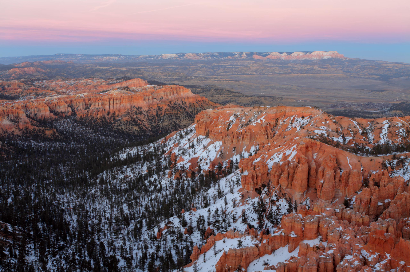 Sunset Afterglow at Bryce Canyon