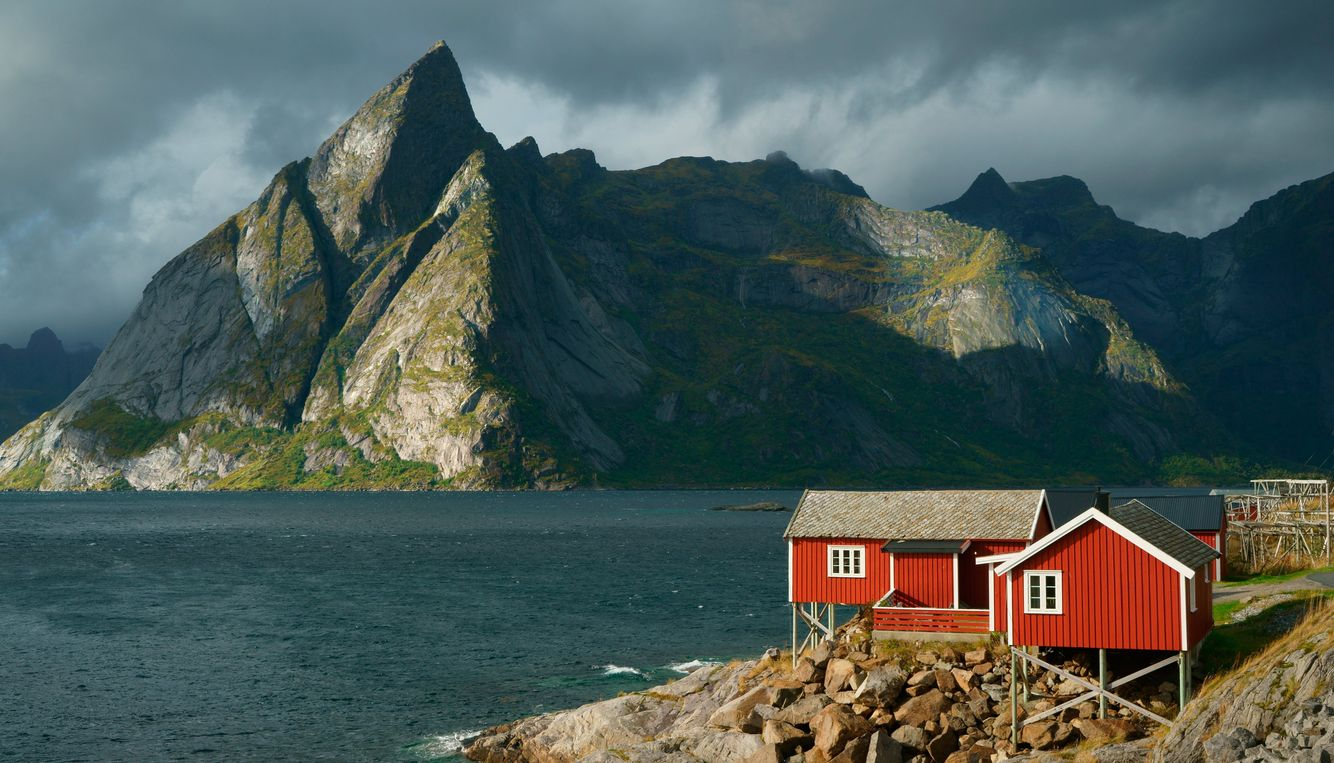 Red Cabins in Hamnoy