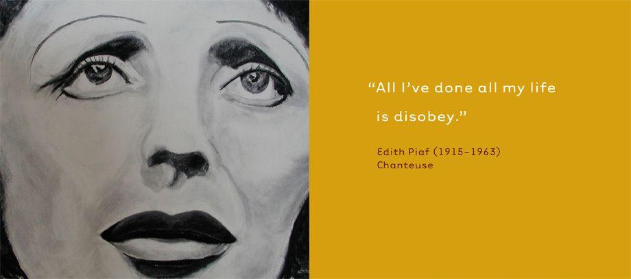 Edith Piaf, Chanteuse