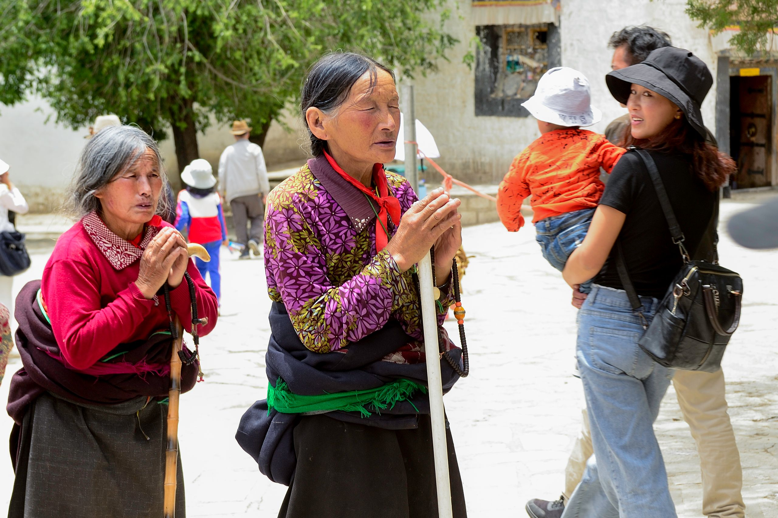 Women Praying at Sera Monastery