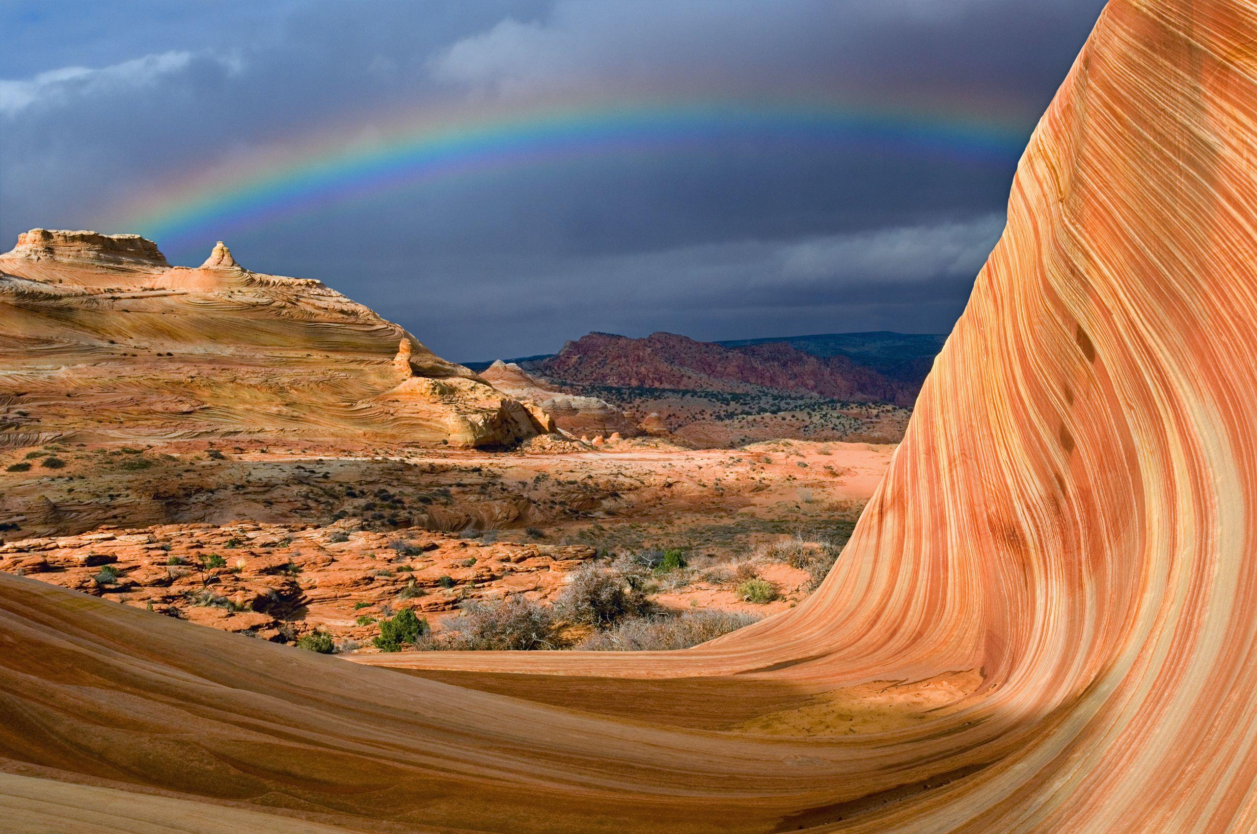 Rainbow Over The Wave