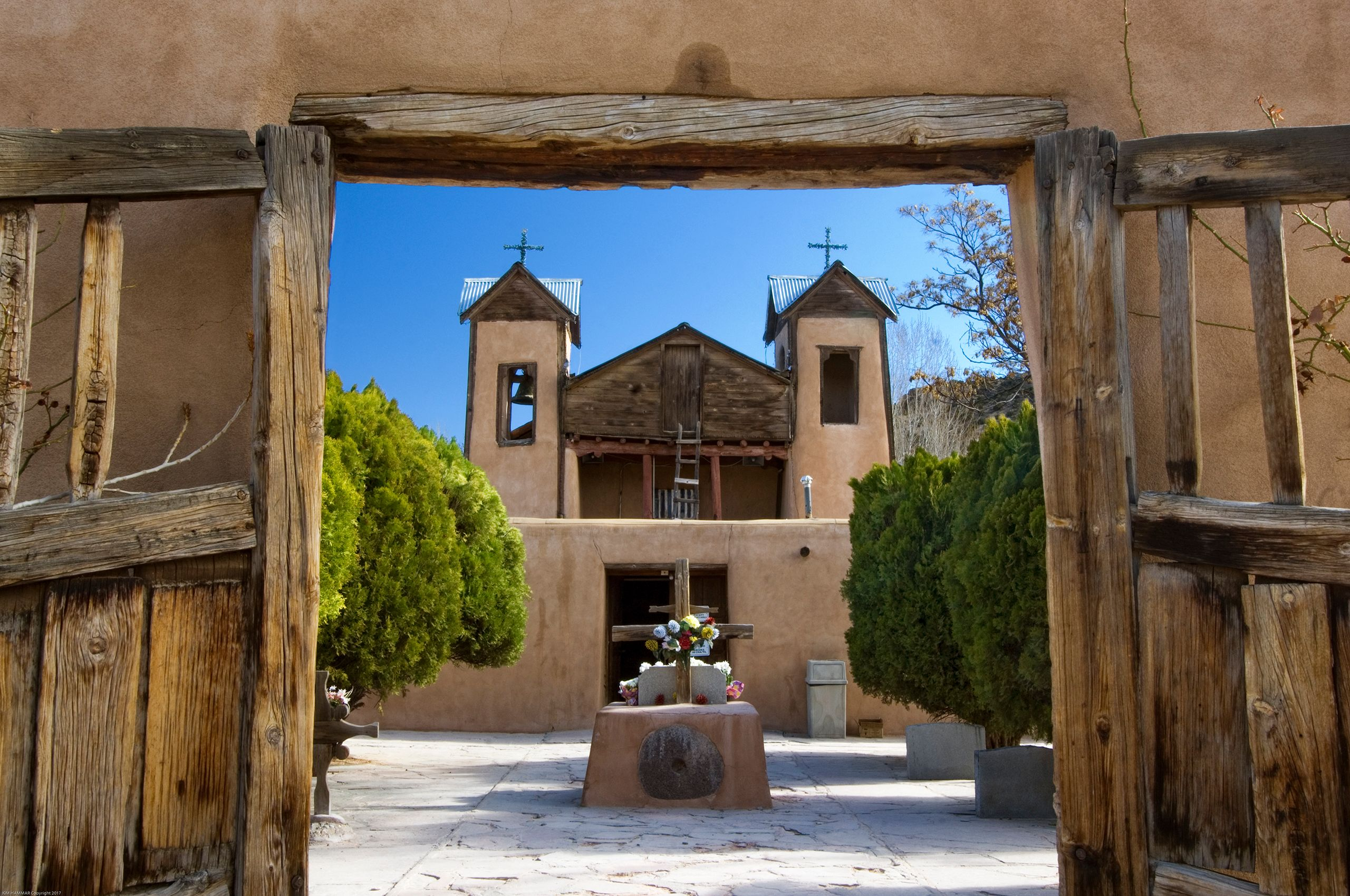 Chimayo Church Entrance